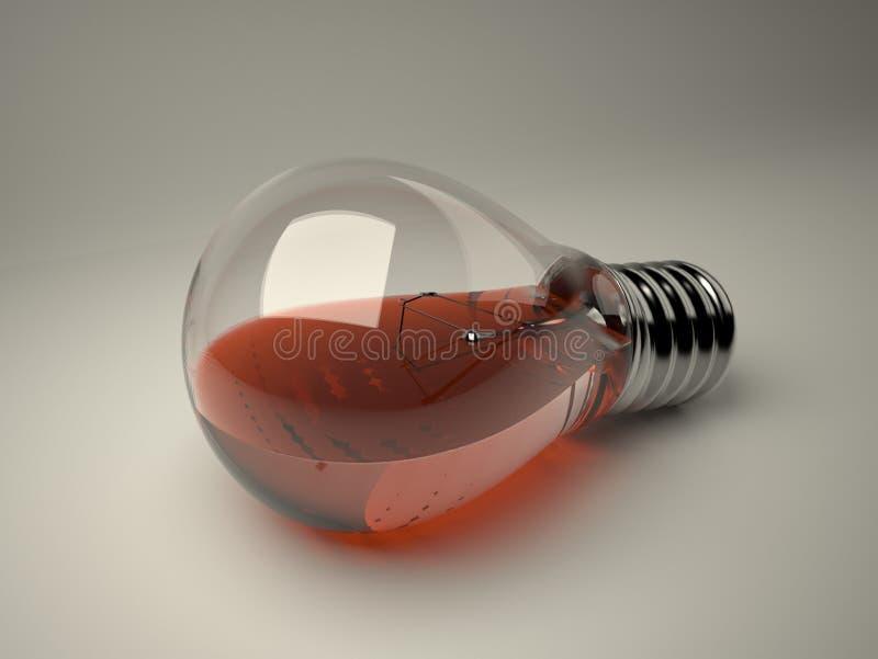 电灯泡液体 图库摄影