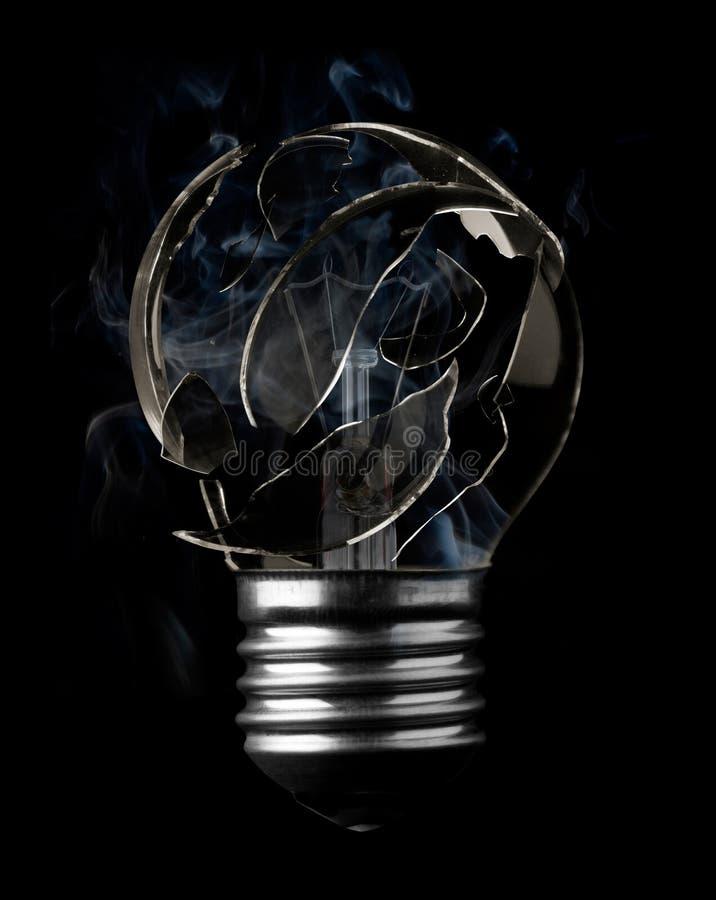 电灯泡烧伤光 免版税库存照片