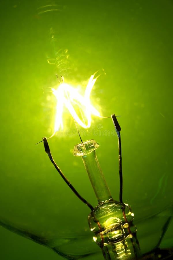 电灯泡焕发光 库存照片