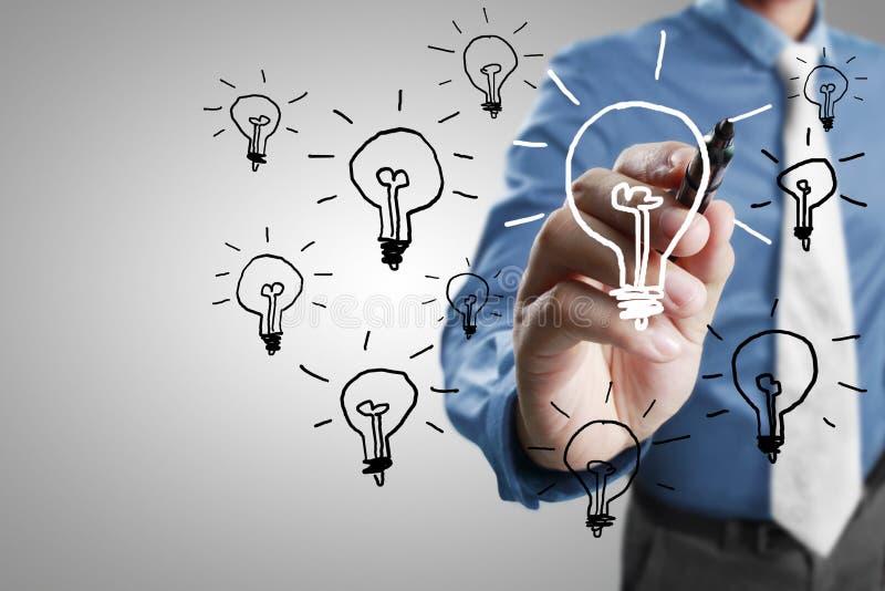 电灯泡生意人图画光 向量例证