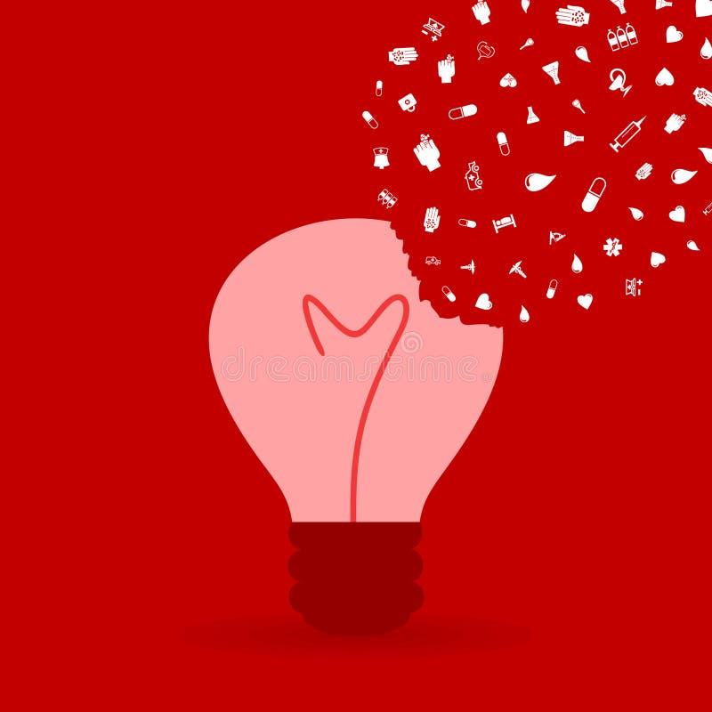 医学bulb2 向量例证