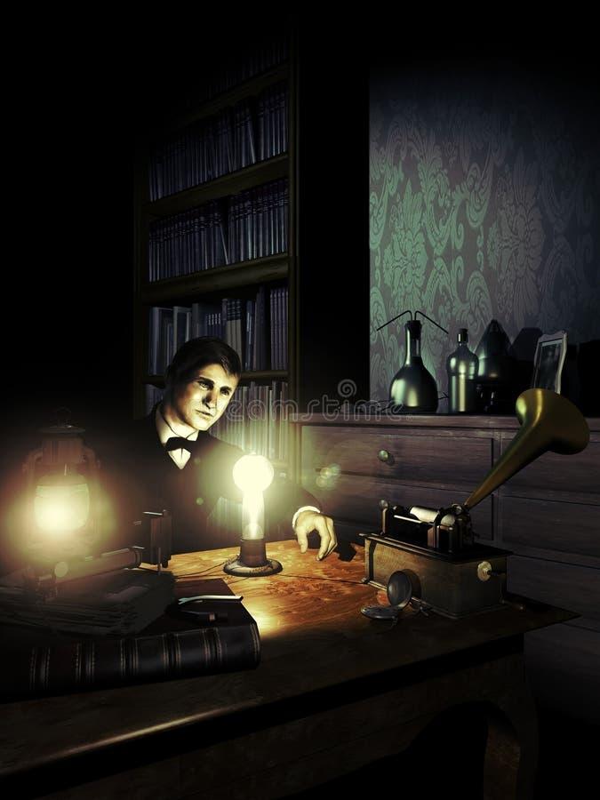 电灯泡的发明 向量例证