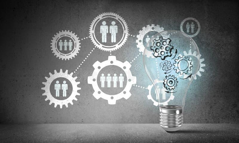电灯泡的概念作为新的想法的标志的 库存例证