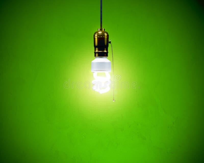 电灯泡紧凑萤光停止 库存图片