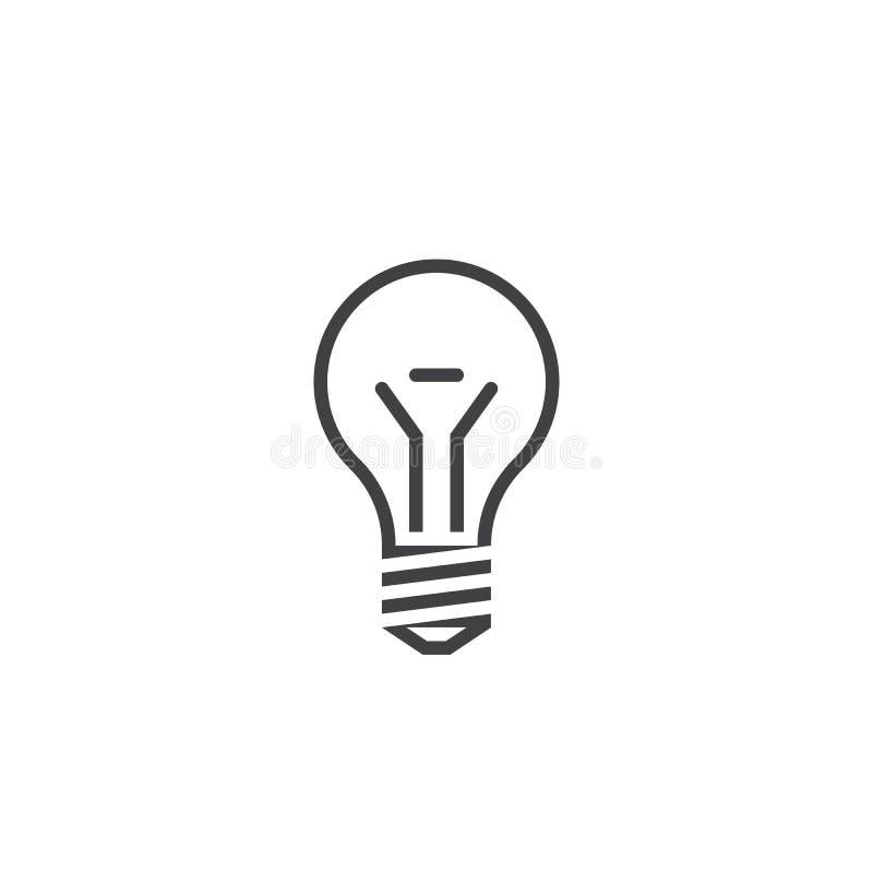 电灯泡线象,灯概述商标例证,线 皇族释放例证