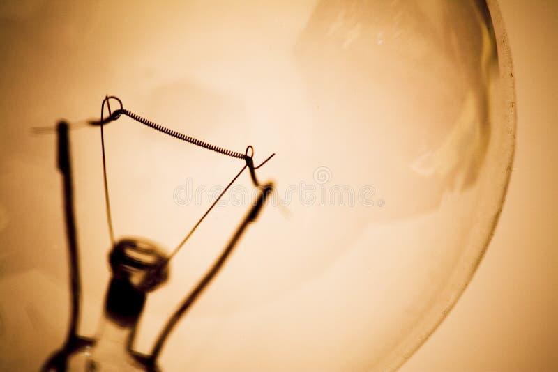 电灯泡细丝光 免版税库存图片