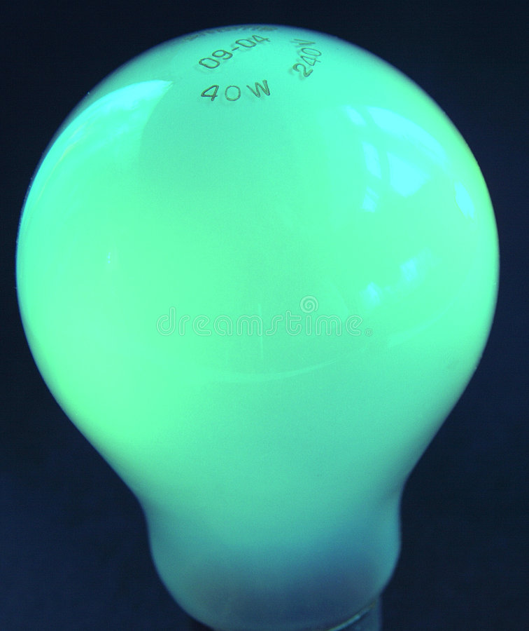电灯泡绿灯 免版税库存图片