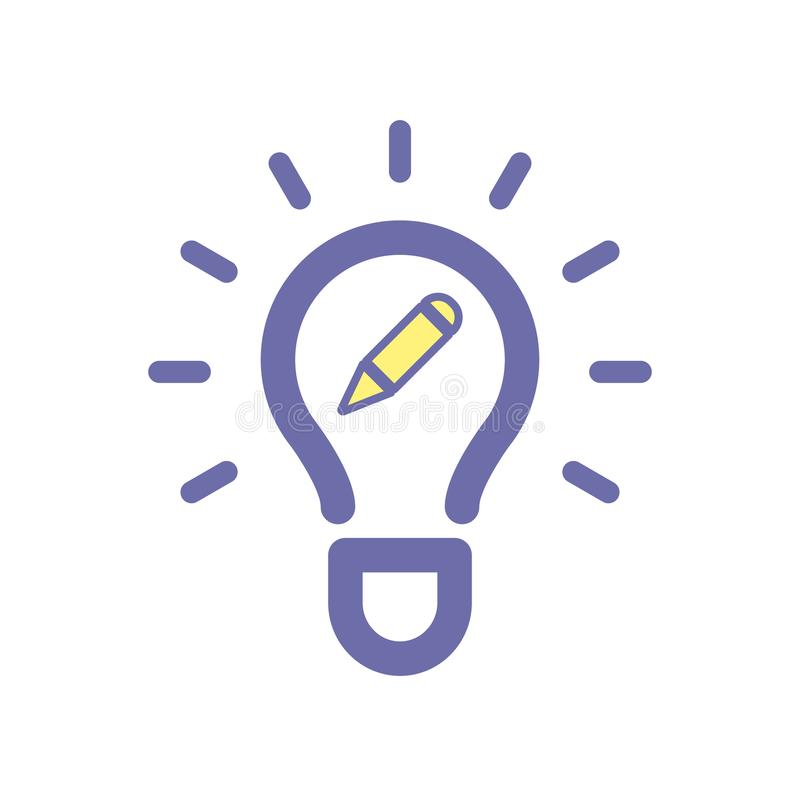 电灯泡编辑想法象 向量例证