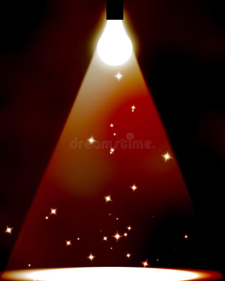 电灯泡聚光灯 向量例证
