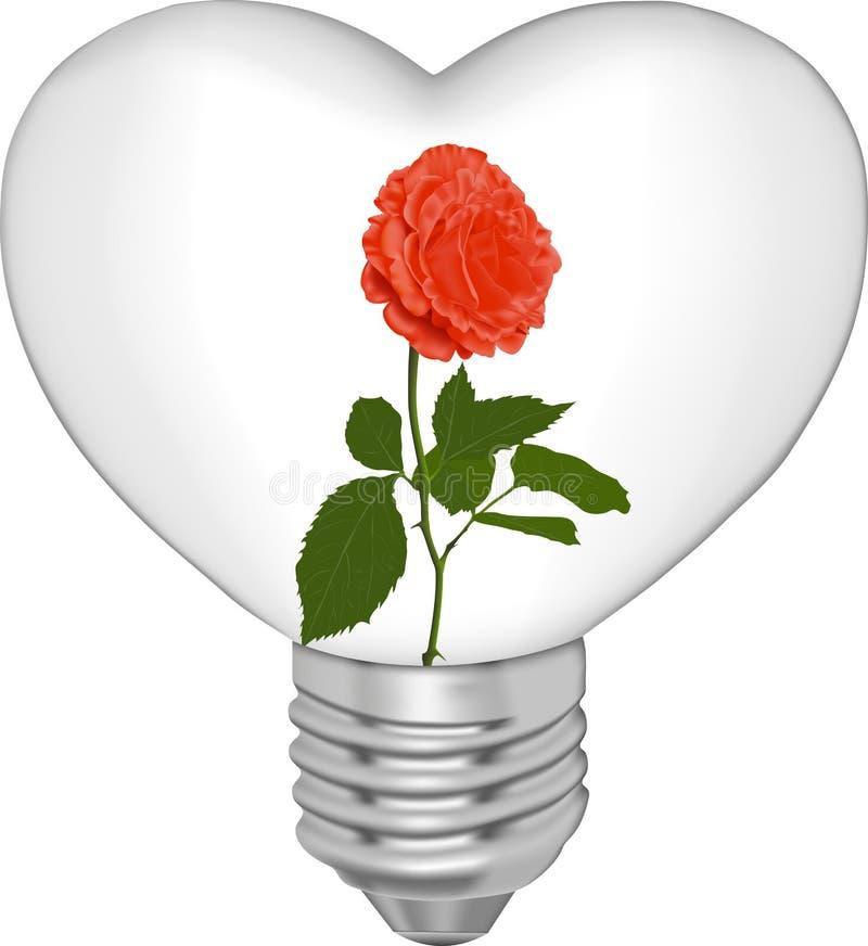 电灯泡花表单重点 免版税库存图片