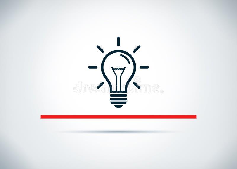 电灯泡象摘要平的背景设计例证 库存例证