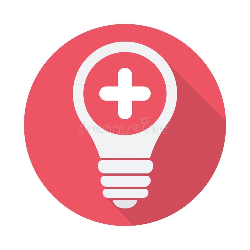电灯泡象,想法,解答,想法的象与增加标志 电灯泡象和新,正,正面标志 皇族释放例证