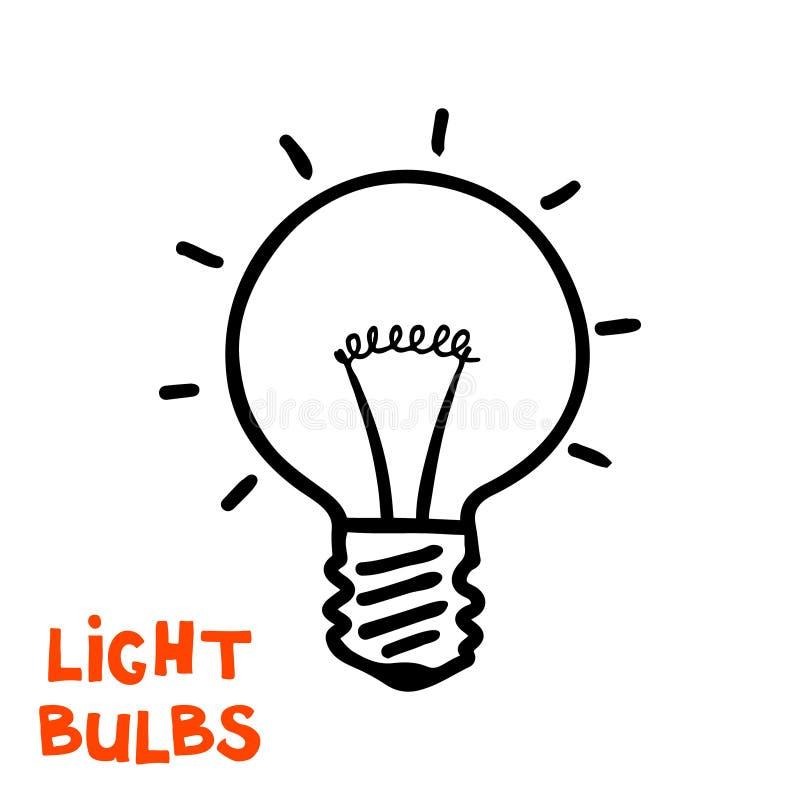 电灯泡象 大想法启发,创新, i的概念 皇族释放例证