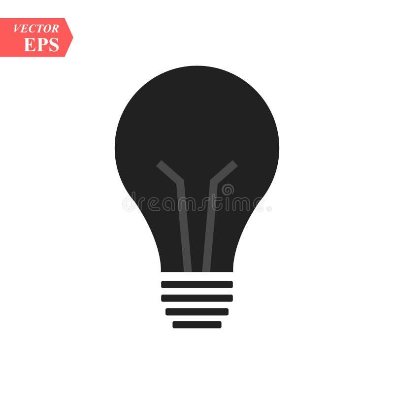 电灯泡象 灯传染媒介象 想法象 轻的象 演播室背景 EPS 10传染媒介平的标志 库存例证