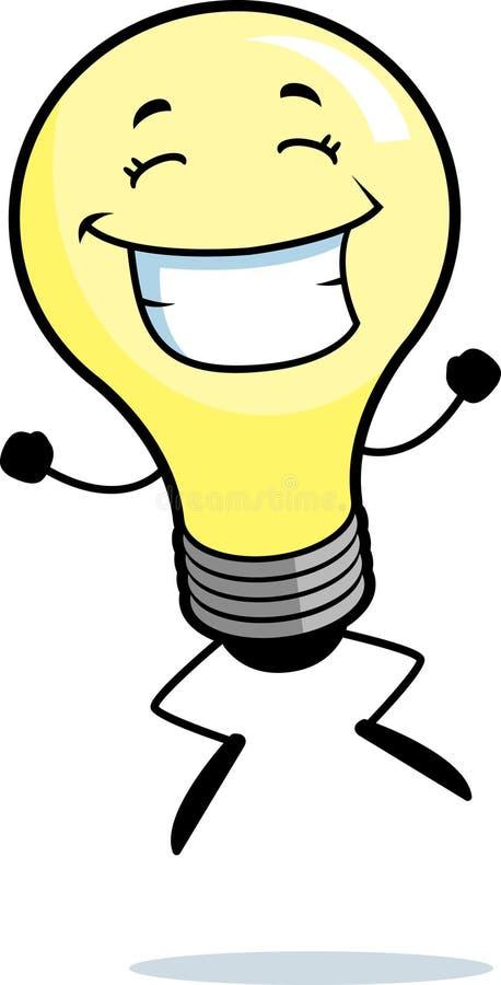 电灯泡跳的光 向量例证