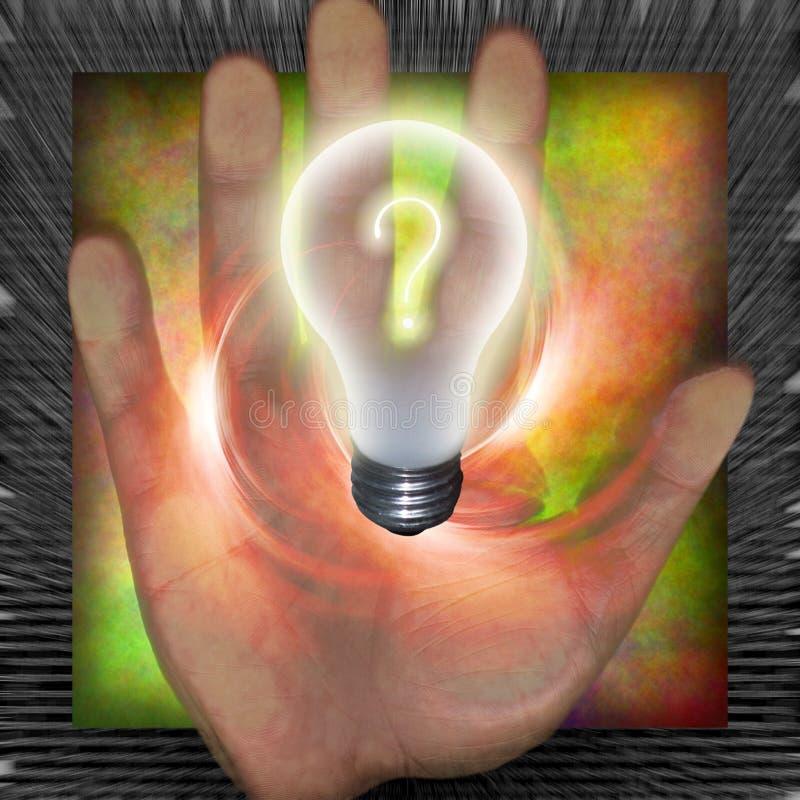 电灯泡问题 向量例证