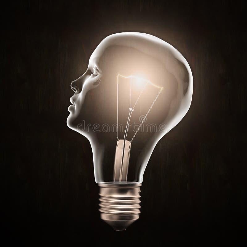 电灯泡顶头光塑造了 库存图片