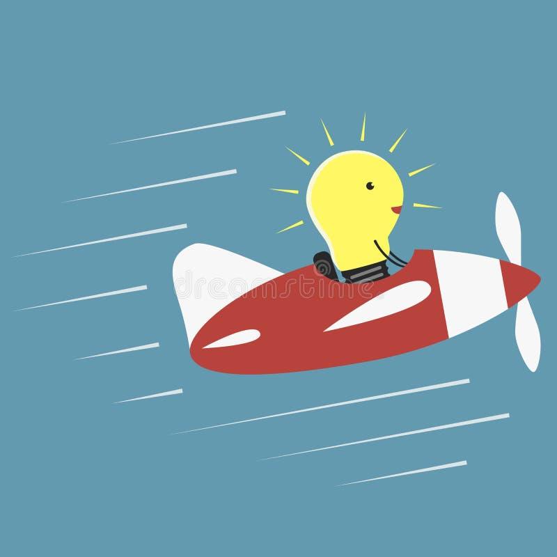 电灯泡飞行员 向量例证