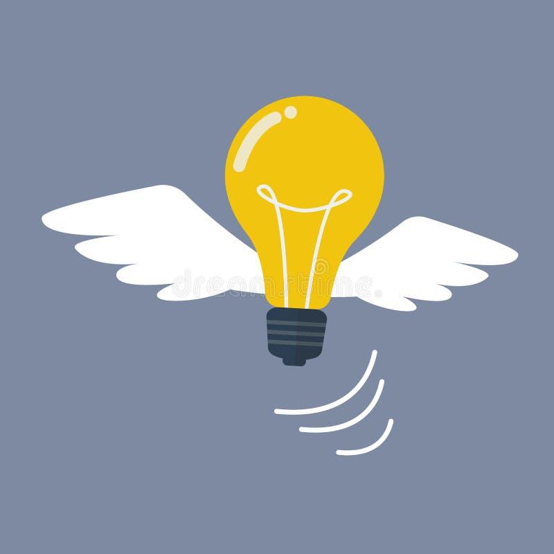电灯泡飞行喜欢鸟 皇族释放例证