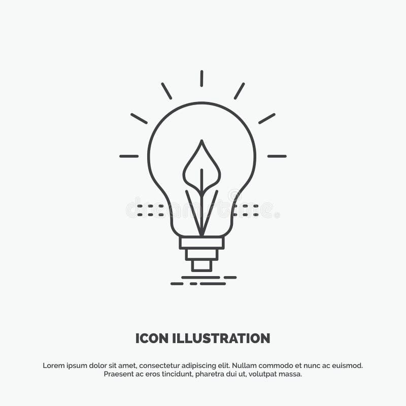 电灯泡,想法,电,能量,光象 r 向量例证