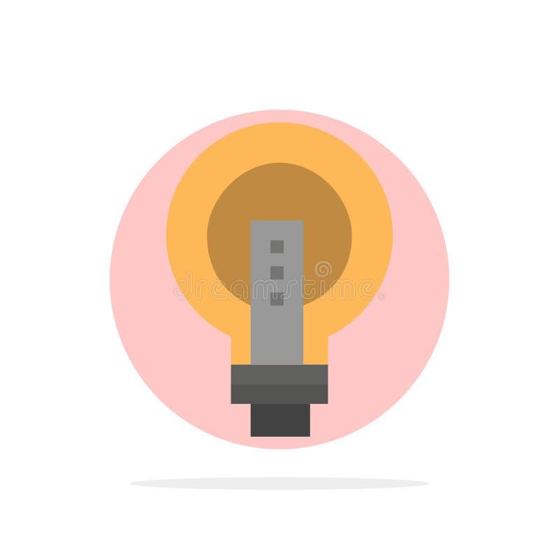电灯泡,明亮,事务,想法,光,电灯泡,力量抽象圈子背景平的颜色象 皇族释放例证