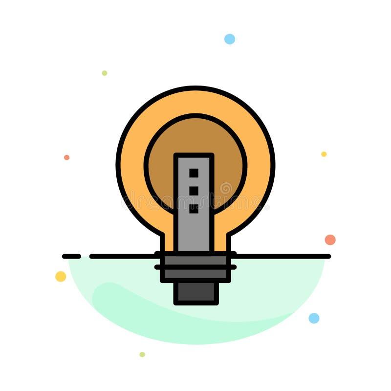 电灯泡,明亮,事务,想法,光,电灯泡,力量摘要平的颜色象模板 皇族释放例证