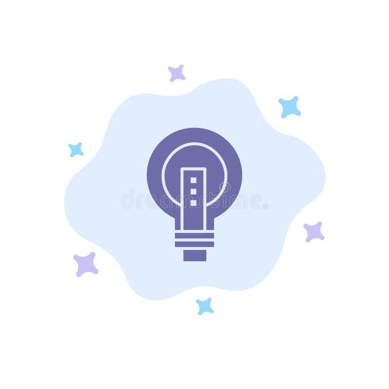 电灯泡,明亮,事务,想法,光,电灯泡,在抽象云彩背景的力量蓝色象 向量例证