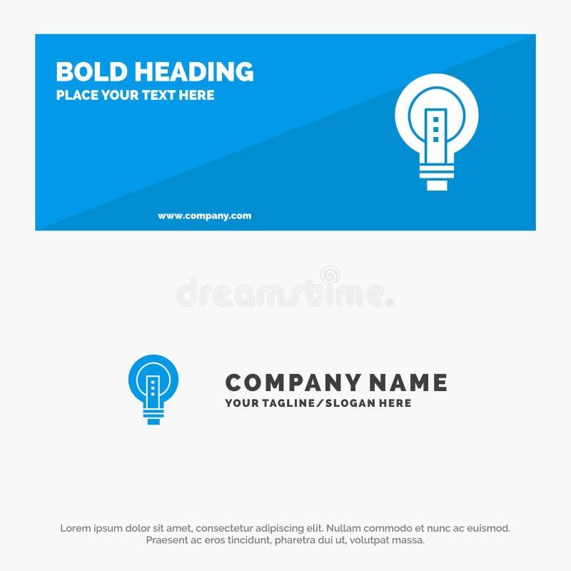 电灯泡,明亮,企业、想法、光,电灯泡、力量坚实象网站横幅和企业商标模板 向量例证