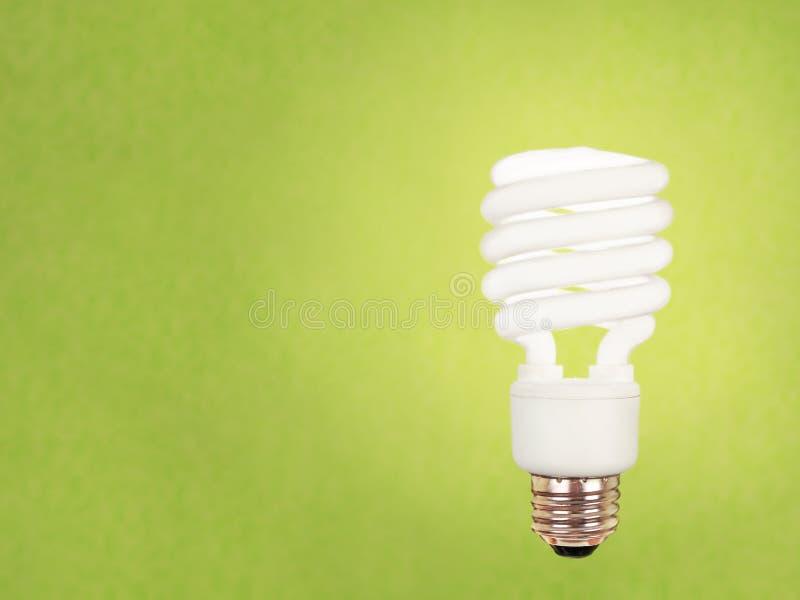 电灯泡cfl绿色 免版税库存图片