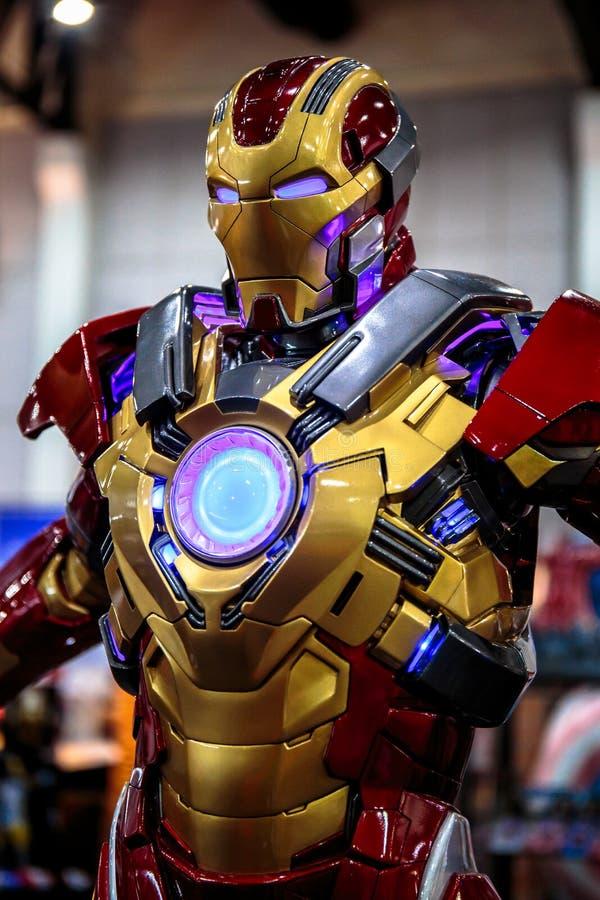电烙人,特级英雄代表在曼谷宣传电影的奇迹,泰国 免版税库存照片