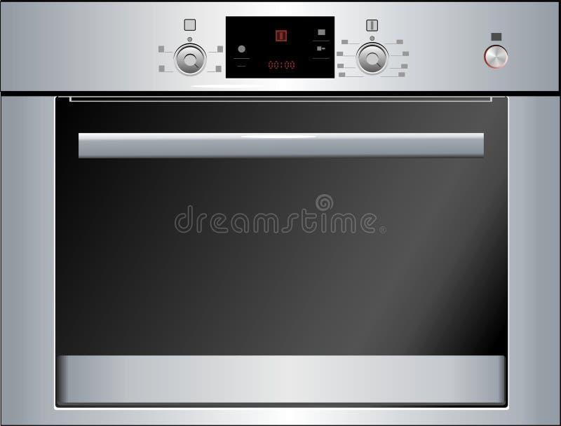电烤箱 皇族释放例证