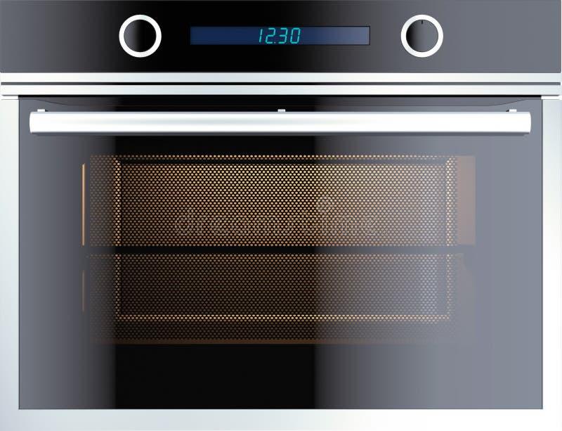 电烤箱 向量例证