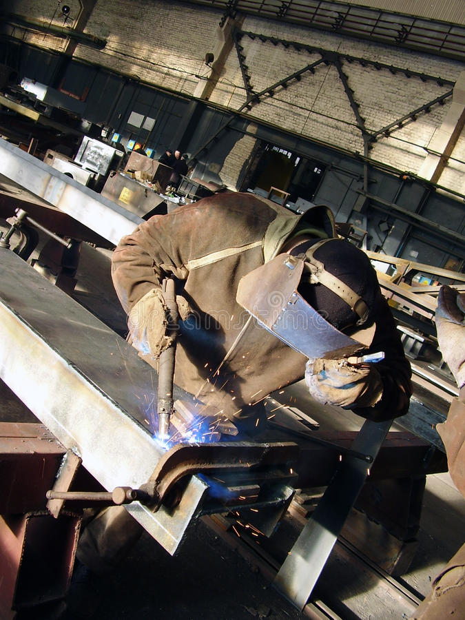 电焊工 库存照片