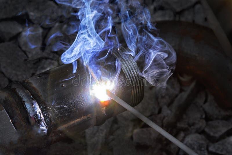 电焊连接的金属类别  库存图片