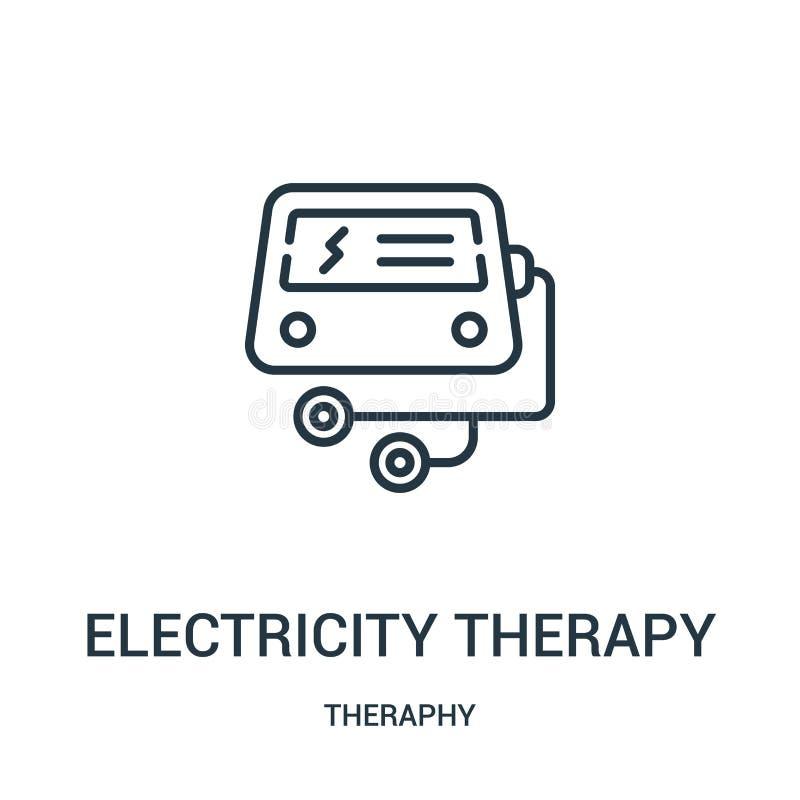 电疗法从theraphy汇集的象传染媒介 稀薄的线电疗法概述象传染媒介例证 皇族释放例证