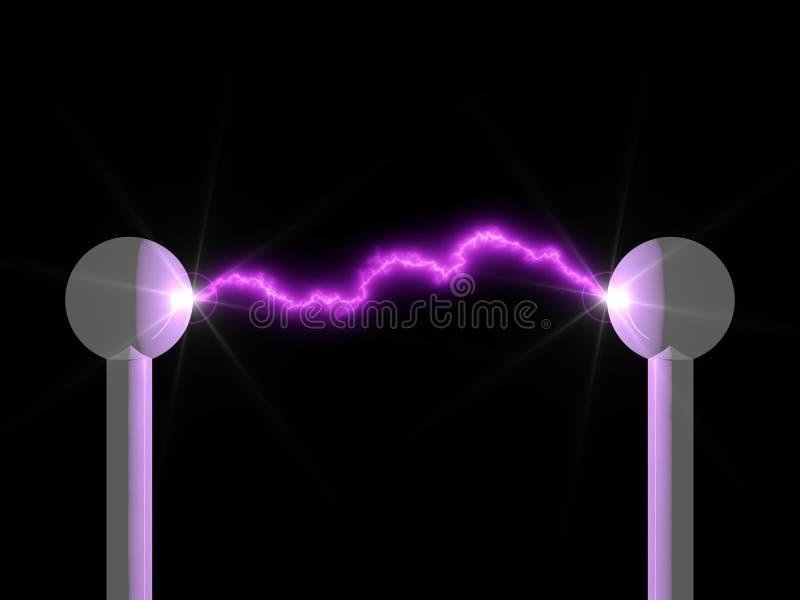 电的弧 向量例证