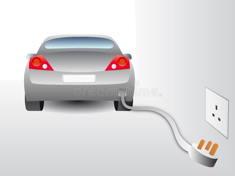 电的汽车 皇族释放例证