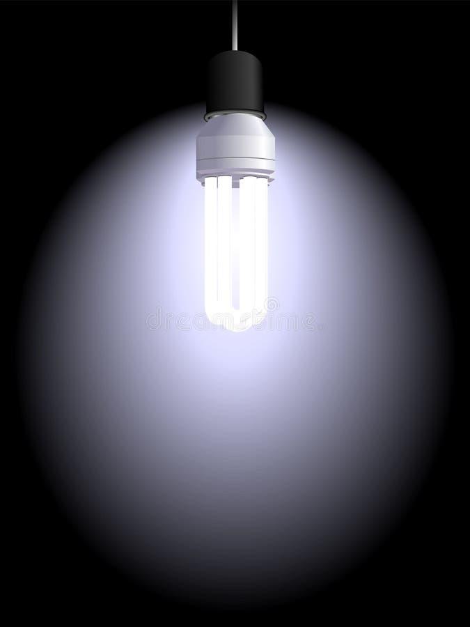 电的电灯泡 库存例证