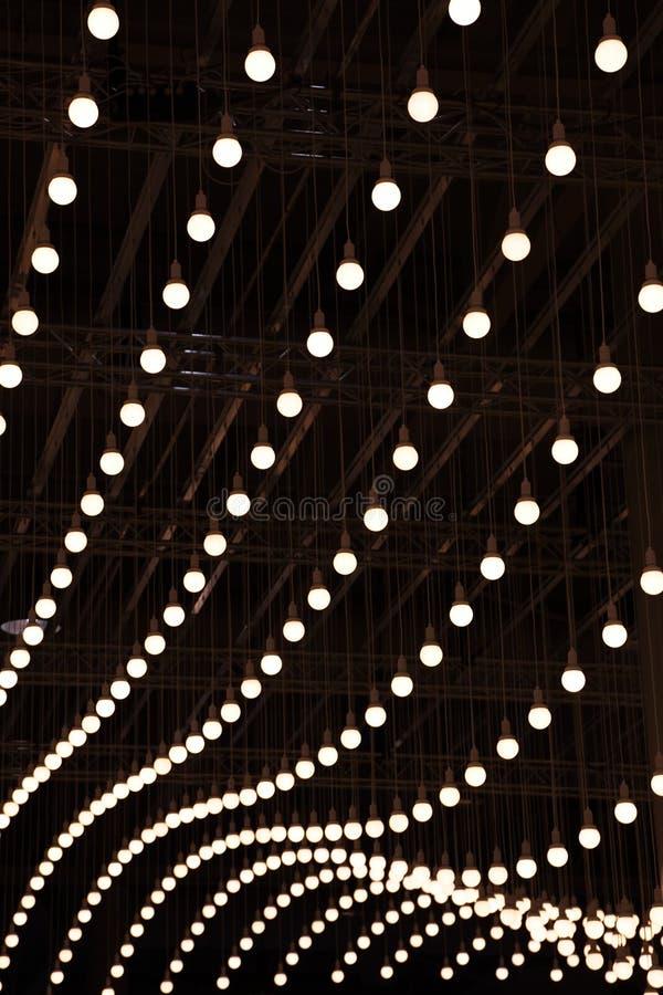 电的电灯泡 库存图片