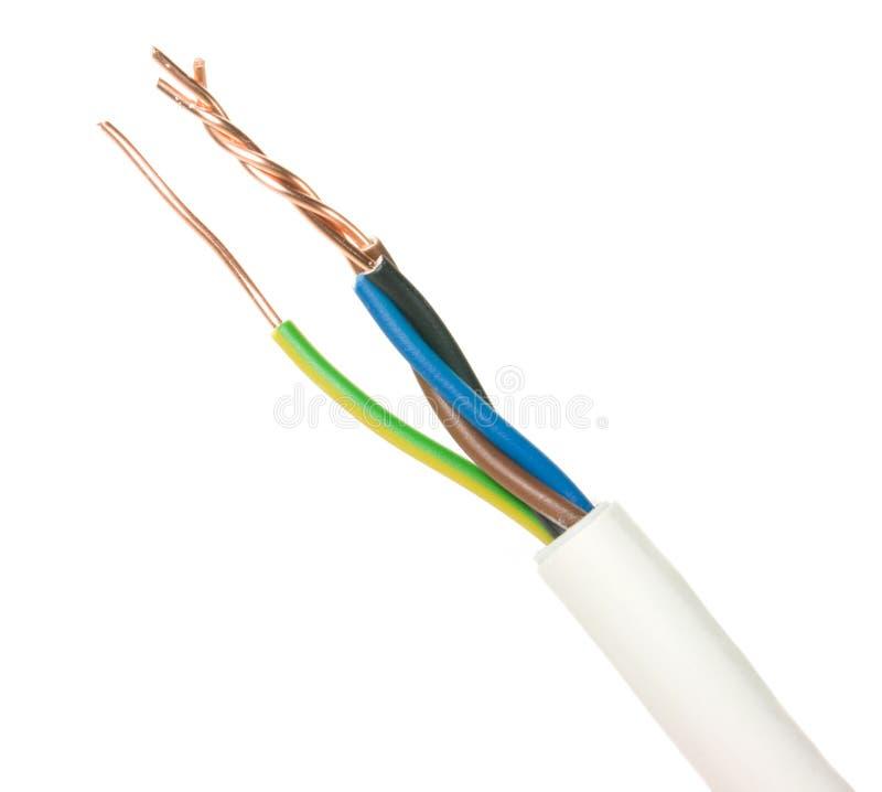 电的电缆 免版税图库摄影