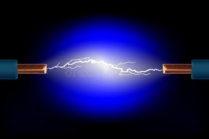 电的电缆 库存例证