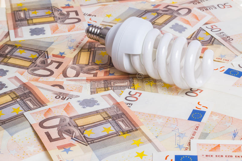 电的价格 免版税库存图片