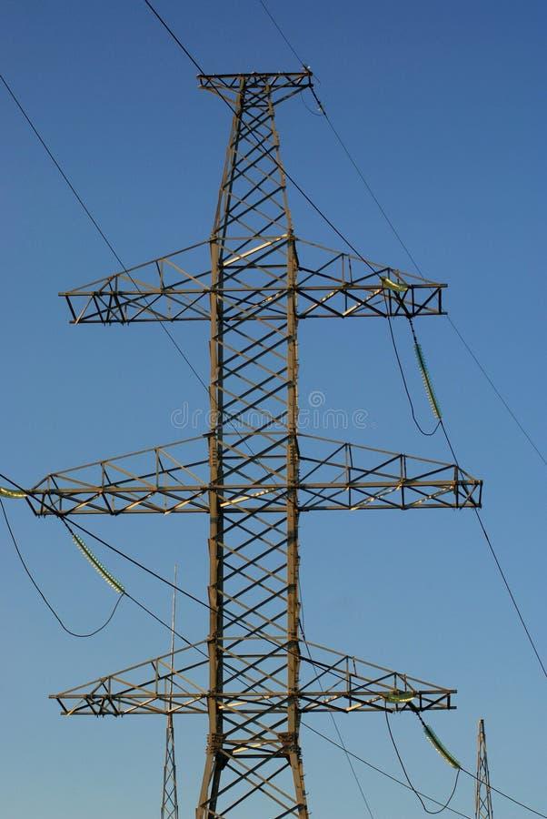 电线定向塔 库存照片