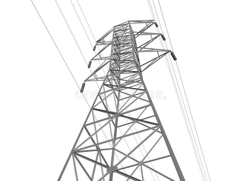 电线路传输 库存例证