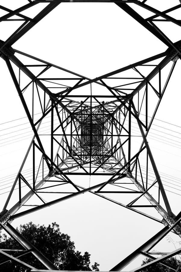 电线路关闭定向塔 向量例证