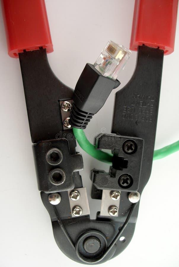 电缆修理 免版税库存图片