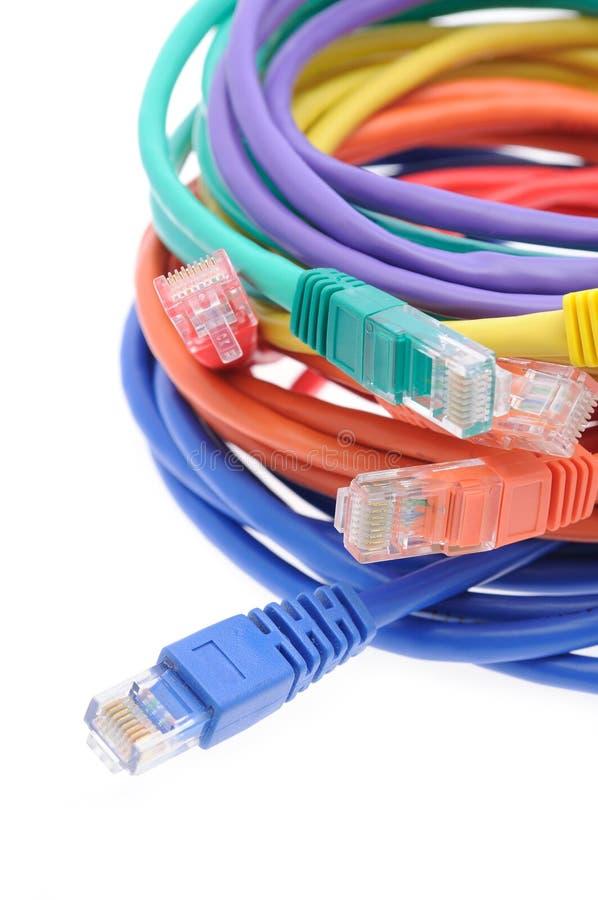 电缆关闭网络  免版税图库摄影
