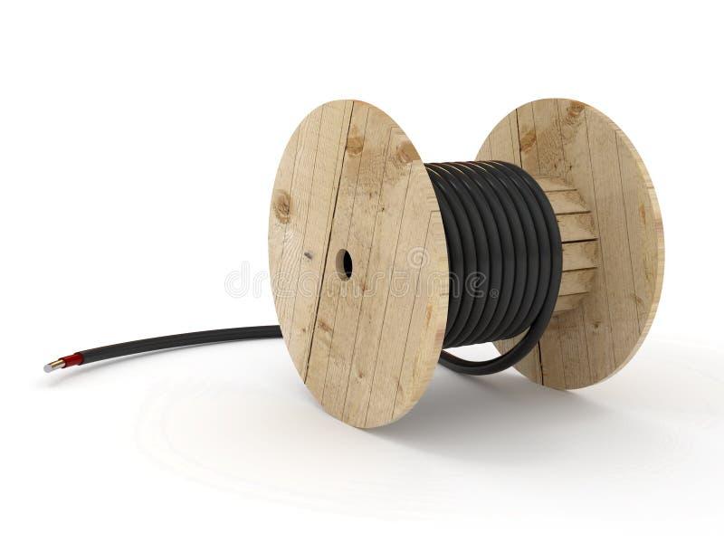 电缆卷  向量例证