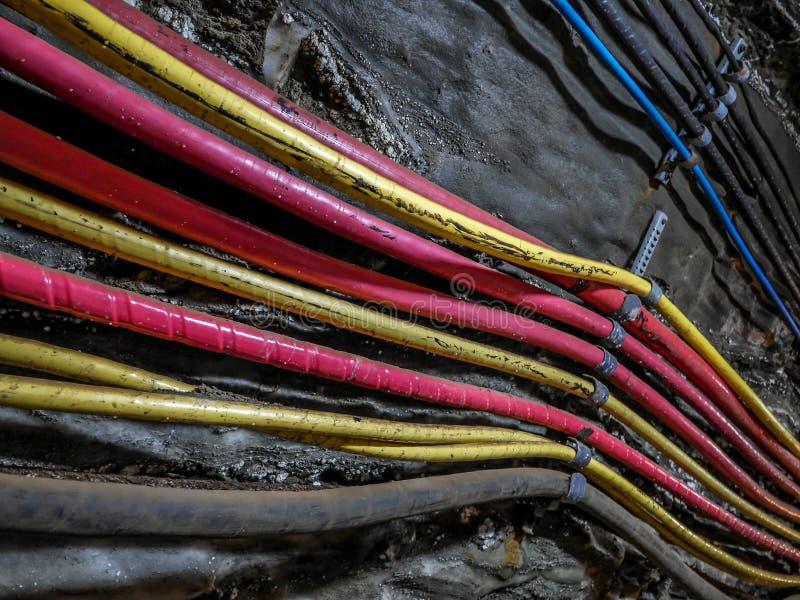 电缆在老水手矿包 库存照片