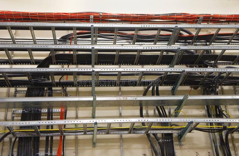 电缆托盘 库存照片